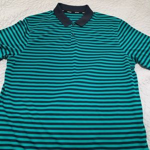Nike golf striped dri fit polo shirt